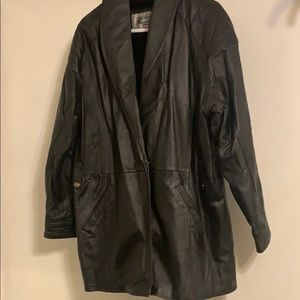 Vintage Genuine Leather Coat Jacket